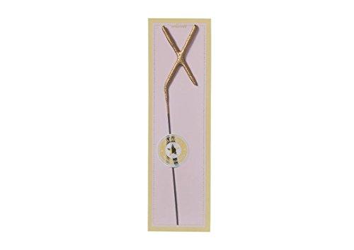 chstabe X - 20,0 x 6,0 cm Gold - ALS Partyzubehör oder Geschenk ()
