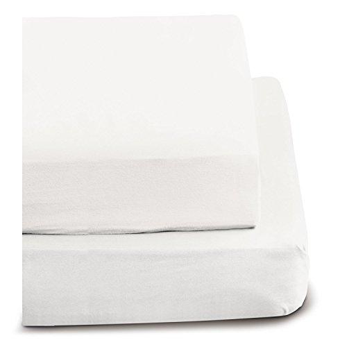 flanell spannbettlaken Irisette 0006_10_148747 Merkur, Biber-Spannbetttuch, 100 x 200 cm, weiß