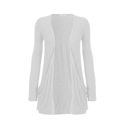 Divadames - Gilet - Cardigan - Femme Blanc