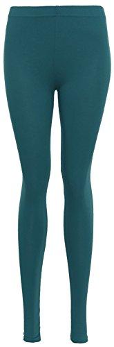 Islander Fashions Womens Plaine Legging Dames Extensible Viscose Plus Size Pantalon Pantalon S / 3XL Teal