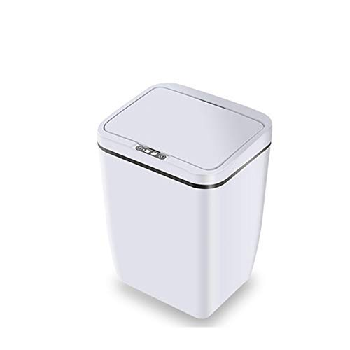 Open Sensor (Intelligent sensor trash can, infrared sensor open cover without bending, ABS + chip battery version intelligent automatic trash can, suitable for living room, kitchen, bathroom. (White))