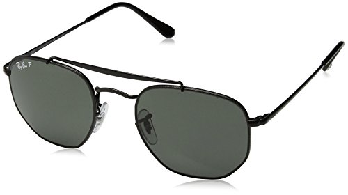 RAYBAN JUNIOR Unisex-Erwachsene Sonnenbrille Marshal Black/Greenpolarized 51