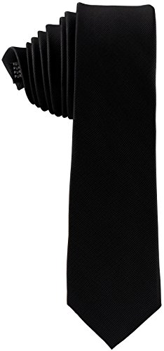 ADAMANT® Seidenkrawatte Schwarz 6cm | 100% Reine Seide | Moderne uni Krawatte für Business und Alltag - Schwarz (Seide Krawatte Schwarze)