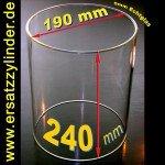 Ersatzglas Würstchenwärmer D=190/ H=240mm (Sondergröße), Jenaer Glas