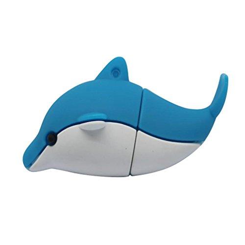 Sharplace Delfin Stil USB-Flash-Laufwerk Flash Pen Drive Daten Speichern - Blau - 16GB (Stil-flash-laufwerk)