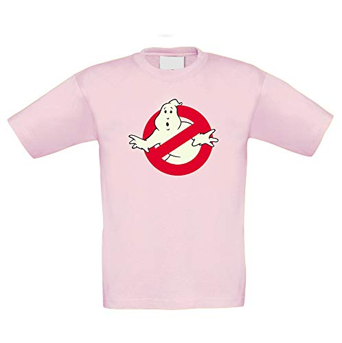 Shirtdepartment - Kinder T-Shirt - Glow - Ghost Busters rosa-Glow 152-164