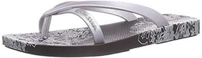 Ipanema  Fashion Kirey II, Tongs pour femme - Noir - Schwarz (Black/Silver 23476), Taille 37 EU