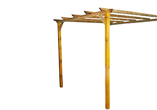 Pergola addossata impregnado madera
