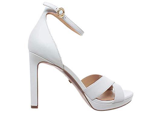 Michael Kors Schuhe Frau Sandalen mit Absatz Alexia Sandal Größe 37 Weiß