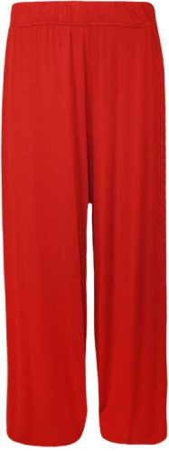 Women's Red Plus Size Palazzo Pants. Size 20-22