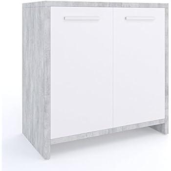 Amazon.de: Waschbeckenunterschrank | Waschtischunterschrank ... | {Waschbeckenunterschrank stehend mit schubladen 57}