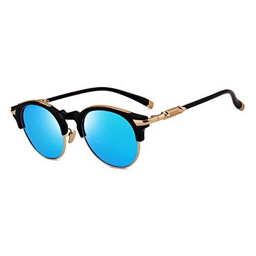Zbertx Neue Ankunft Halben Rahmen Polarisierte Sonnenbrille Frauen Verfügbar Spiegel Objektiv Sonnenbrille Street Vogue Uv400,Black W Blue Mirror