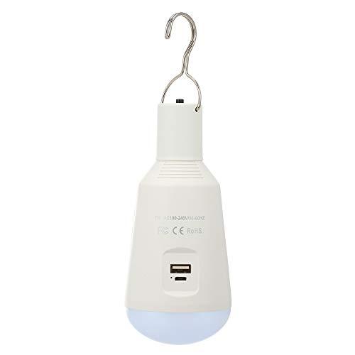 Solar Powered LED Light Bulb 7W E27 recargable IP65 Protección LED Light para Camping Tienda de emergencia Casa Barbacoa al aire libre Cobertizo Bombilla Banco de potencia para teléfono