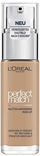 L'Oréal Paris Perfect Match Foundation, flüssiges Make-Up, deckend und feuchtigkeitsspendend für einen natürlichen Teint - 5N sand (30 ml) -