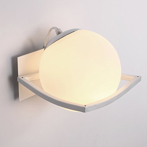HOHE Shop/Einfache Moderne Art-Eisen-Lampen-Körper-Glas-Lampenschirm E27 sphärische Wand-Lampe - Art-glas-körper