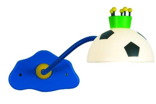 Niermann Standby 329 Wand-Leseleuchte König Fußball, ca. 20 x 12 x 40 cm,1 x E14 - max.40 Watt, inklusiv Leuchtmittel, Schirm aus bruchsicherem Polycarbonat, mit felxiblen Arm, Made in Germany