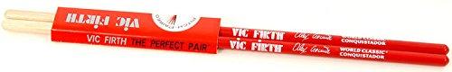 BAQUETA BATERIA - Vic Firth (VF/AA) (Signature Alex Acuña) Caoba Rojo Conquistador (406x11 mm.) (Baquetas De Bateria)
