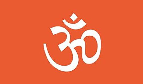 Hindu Flagge 5ft x 3ft groß–100% Polyester–Metall Ösen–doppelt genäht