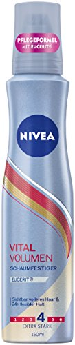 NIVEA 3er Pack Schaumfestiger, Extra Stark, 3 x 150 ml Dose, Vital Volumen