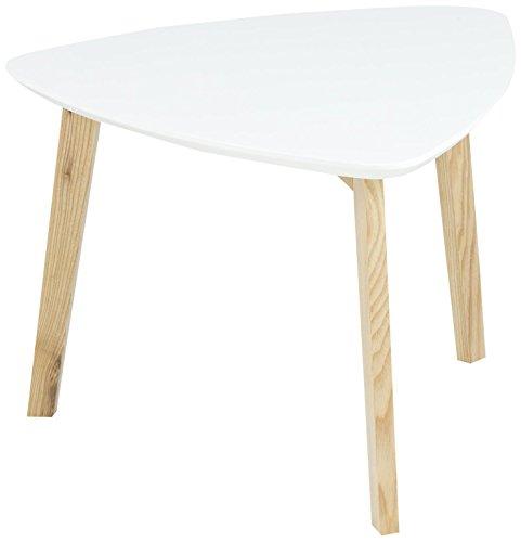 AC Design Furniture 60268 d'angle Mette, Dessus de Table en Bois, Peint Blanc