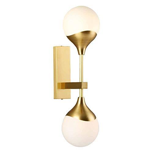 Wohnzimmer Voll Kupfer Wand Lampe Post Moderne Minimalistische Hause Persönlichkeit Kreative Schlafzimmer Wandleuchte Gang Glaskugel,13 * 50 * 21cm -