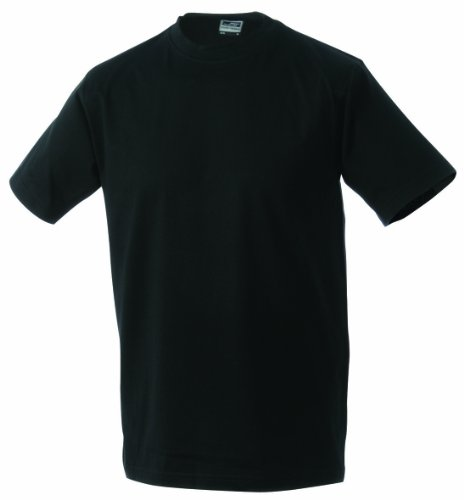 James & Nicholson Jungen T-Shirt Junior Basic Rundhals, Gr. X-Large (Herstellergröße: XL (146/152)), Schwarz