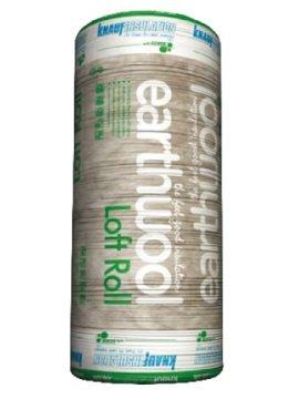 1x Insulation Loft Roll Knauf Earthwool 100mm Thickness, 13.89m2 Per Roll Combi Cut