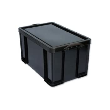 Really Useful Box 84 Litre General Storage Box   Solid Black