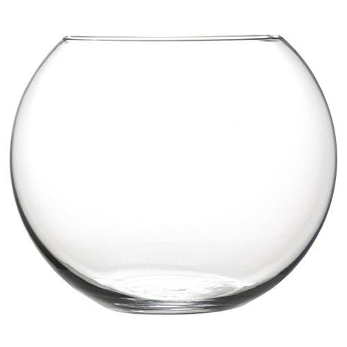 INERRA Glass Fish Bowl Rund Vase 20cm-für Blumen, Blumensträuße & tafelaufsätze