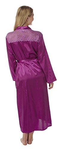 Gorgeous satin /& lace trim Wrap dressing gown from Indigo Sky