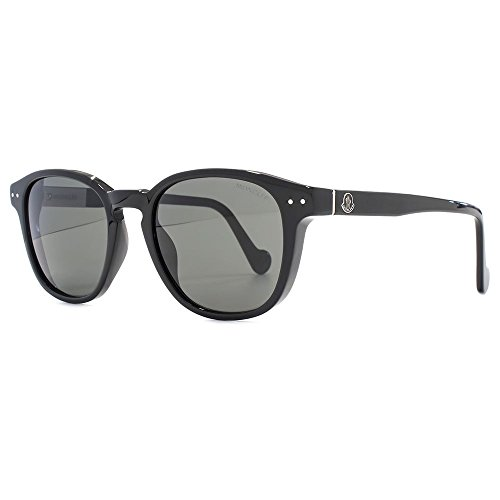 MONCLER Unisex Adults' ML0010 01A 51 Sunglasses, Black (Nero Lucido/Fumo)