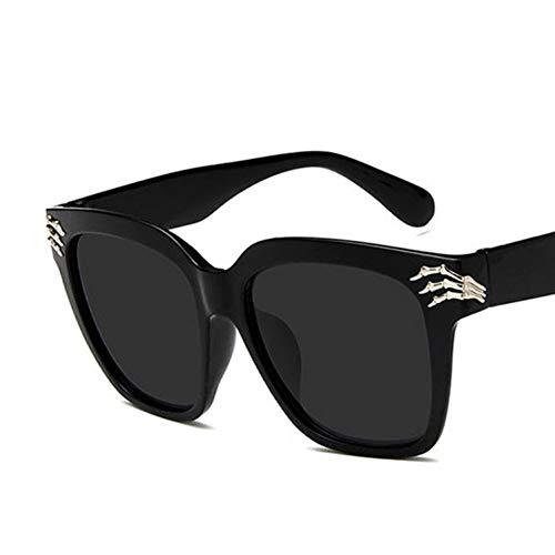 Kjwsbb Übergroße Rahmen-Mann-Sonnenbrille-Frauen-Trend-Quadrat-Mehrfarbenplastik, der Schwarze Sonnenbrille fährt