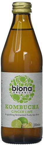 Biona Organic Kombucha Ginger Lime, 330ml (Pack of 6)