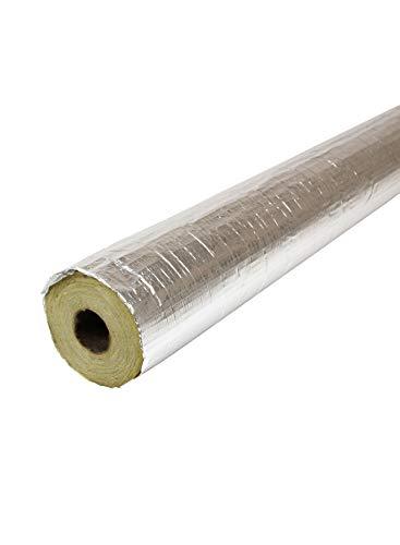 Rohrschale 100 cm Mineralwolle Rohr: 35 mm Dämmung: 20 mm Isolierung alukaschiert Steinwolle Rohrisolierung WLG 035