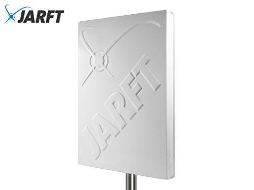 JARFT J4GMB-14 LTE Richtantenne inkl. 2.5m Kabel - 14dBi, Wetterfest, 800/1800/2600 MHz Universal Multiband 4G Antenne passend für LTE Router (wie z.B. Speedport, Speedbox, EasyBox, FritzBox)