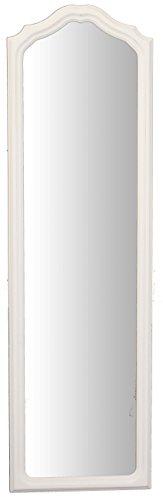 Espejo de pared con marco de madera blanco Shabby Chic vintage. Made in Italy.Hecha a mano....