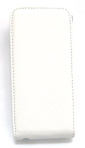 Emartbuy ® Apple Iphone 5 5s Lusso Pu Leather Flip Case / Custodia Bianco / Tan