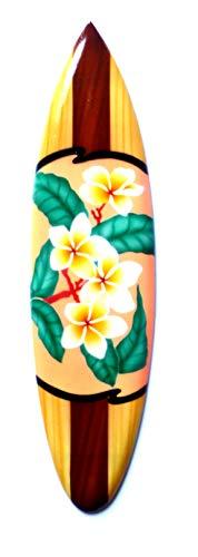 Asia Design Miniatur Surfboard Dekosurfboard Surfbrett Holz Wellenreiten Höhe 30 cm inkl. Holzständer Dekoration Nr 13