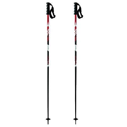 Atomic, AJ5005214120, Unisexe 1 Paire de Bâtons de Ski de Course, Pour les Pistes, Longueur 120 cm, Poignée Redster, REDSTER 10, Noir/Rouge