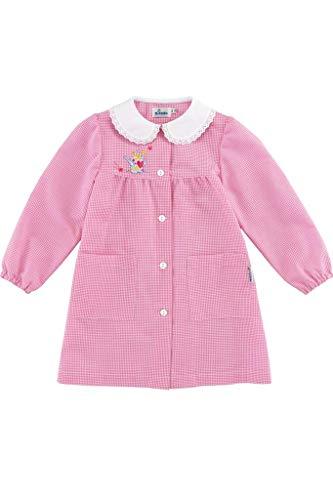 Grembiule asilo scuola scuola materna bambino bimbo siggi 33gr2819 a scacchetti bianco e rosa 2-3-4 anni (55 4 anni)