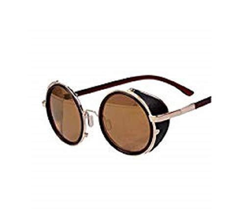 Arctic Star Sonnenbrille im Stil der 80er Jahre, Vintage-Stil, klassisch, rund, sehr beliebt (goldener Rahmen)