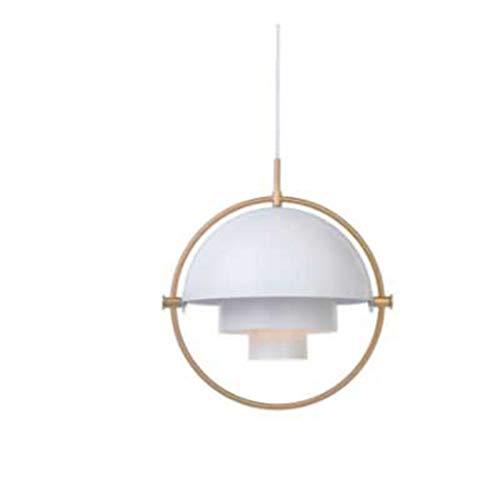CRESDAR&L Pendelleuchten Glas Metall Pendelleuchte Transformation Lampe für Wohnzimmer Wohnkultur White 31-40W (Bulk Gläser Bier)