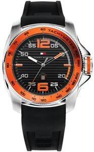 Reloj Tommy Hilfiger 1790853 de cuarzo para hombre con correa de silicona, color negro de Tommy Hilfiger