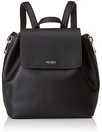 HUGO - Hoxton Backpack, Bolsos mochila Mujer, Negro (Black), 14x29x26 cm (B x H T)