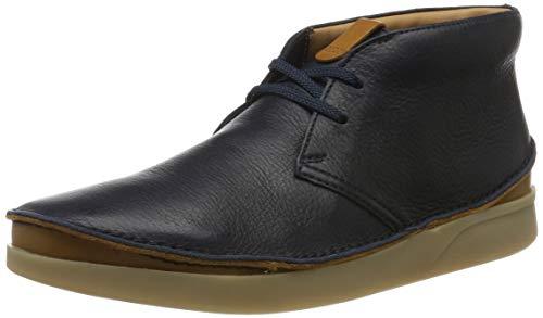 Clarks Herren Oakland Rise Klassische Stiefel, Blau Navy Leather, 43 EU -