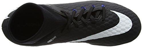 Nike Herren Hypervenomx Phelon Iii Df Tf Fußballschuhe Schwarz (Black/white-dark Grey-game Royal)