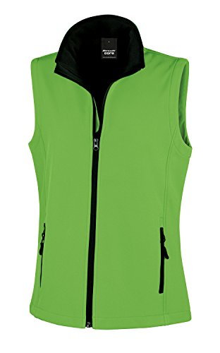 Result Core Womans Softshell Bodywarmer - 7 Colours / - Vivid Green / Black - L