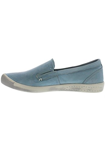 Softinos Ita Washed, Mocassins femme pastel blue