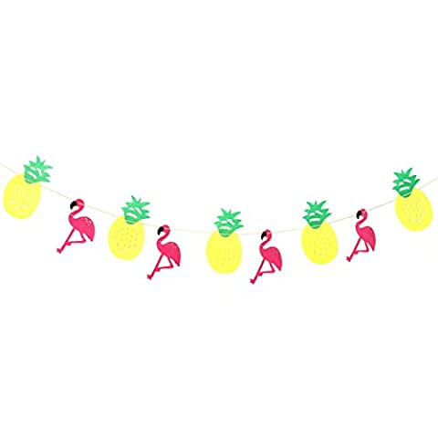 Tinksky Flamingo Pineapple Party Banner Garland House Party Holidays Favors Decoration