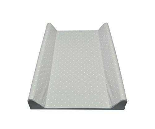 Schmale 2-Keil Wickelauflage Grau Punkte Ecru 50 X 70cm